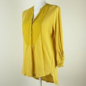 Meadow Rue Anthro Gold Yellow Hi Low Popover Top